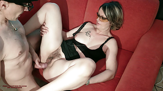 OPEN FUCK TABOO COUGAR SPIES ON HER GIRL'S BOY AND HIS COCK