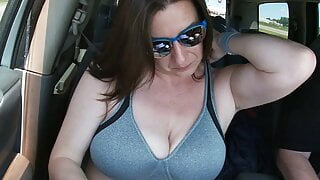 Tit play in the car!